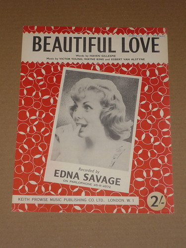sheet music cover 1950s